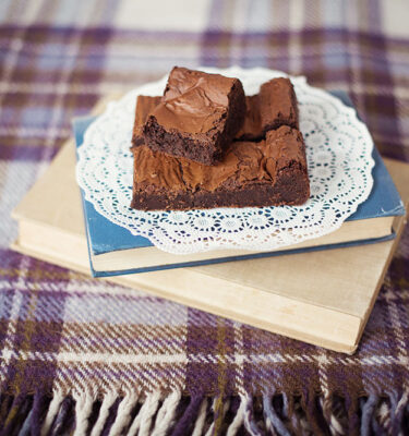 chocolate-damson-brownie