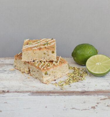 Lime Coconut & Pistachio Blondie