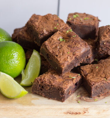 Blackcurrant & Lime Brownie